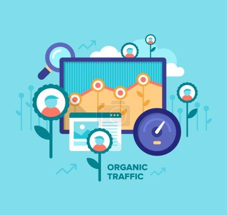 Organic Traffic. SEO Concept