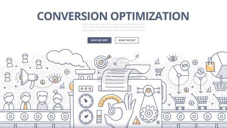 Conversion Optimization Doodle Concept