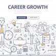 Doodle design style concept of career growth, sele...