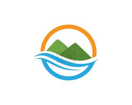 Mountains Logo Template vector
