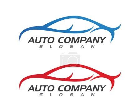 Illustration pour Vecteur d'icône de modèle de logo de voiture d'affaires automatique - image libre de droit