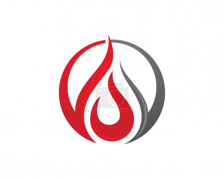 Illustration for Logo and Abstract web Icon and fire vector identity symbol - Royalty Free Image
