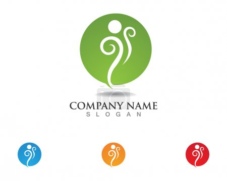 Illustration for Fun people Healthy Life icon Logo template - Royalty Free Image