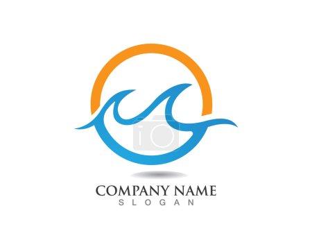Wave water beach logo
