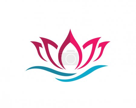 Illustration for Beauty Vector lotus flowers design logo Template - Royalty Free Image