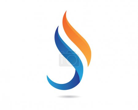S Fire Flame Logo