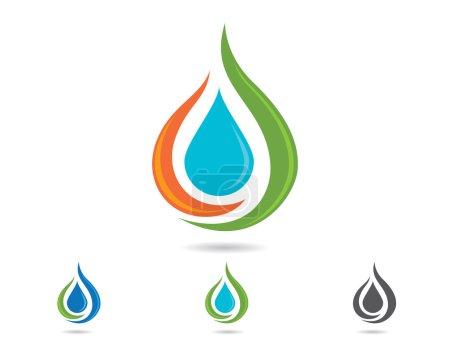 Water drop Eco Logo