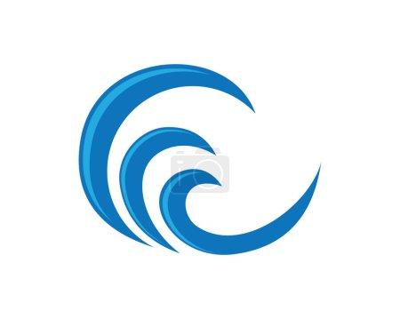 Illustration pour Modèle de logo Summer Beach wave - image libre de droit