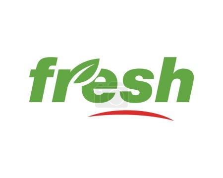 Illustration for Eco fresh logo green - Royalty Free Image