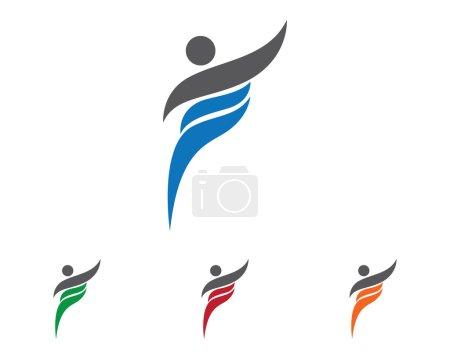 Illustration pour Modèle de logo TRaining people - image libre de droit