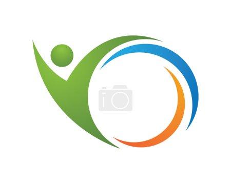 Illustration pour Logo succès personnes - image libre de droit