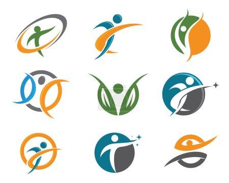 Illustration pour Modèle de logo de formation Healhty - image libre de droit