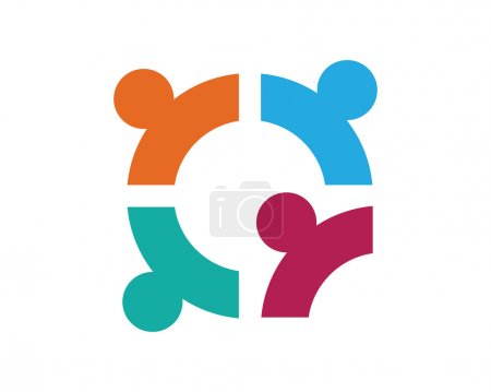 Illustration for Collection Of People Icons In Circle - Vector Concept Engagement, Togetherness - Royalty Free Image