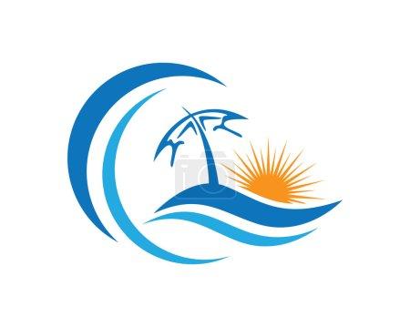 Illustration pour Symbole et icône Beauty Wave pour vous modèle Logo - image libre de droit