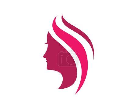 Illustration pour Modèle de logo d'icône de femme de beauté vecteur - image libre de droit
