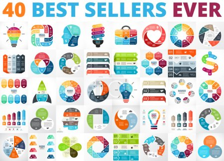 Business diagrams infographics set