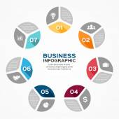 Vector circle infographic Template for diagram graph presentation and chart Business concept with 7 options parts steps or processes Abstract background