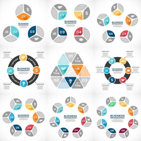 Illustration pour Mise en page pour vos options ou étapes. modèle abstrait pour le fond. - image libre de droit