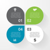 Vector circle infographic Template for diagram graph presentation and chart Business concept with 4 options parts steps or processes Abstract background