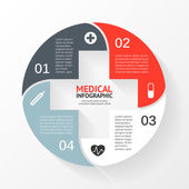 Vector circle plus sign infographic Template for diagram graph presentation and chart Medical healthcare concept with 4 options parts steps or processes Abstract background