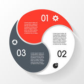 Vector circle infographic Template for diagram graph presentation and chart Business concept with 3 options parts steps or processes Abstract background