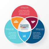 Vector social teamwork infographic Template for circle diagram graph presentation and chart Business concept with 3 options parts steps or processes Abstract background