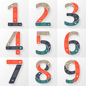 Vector numbers infographics font diagrams