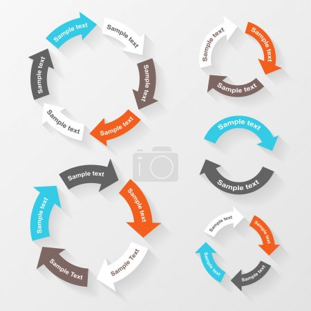 Vector circle arrows for infographic. Template for diagram, graph, presentation and chart. Business concept with 2, 3, 4, 5, 6 options, parts, steps or processes.