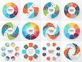 Vector circle arrows infographics set Template for diagram graph presentation and chart Business concept with 8 options parts steps or processes Abstract background