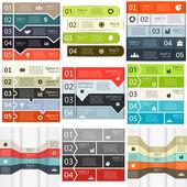 Vector lines infographics set