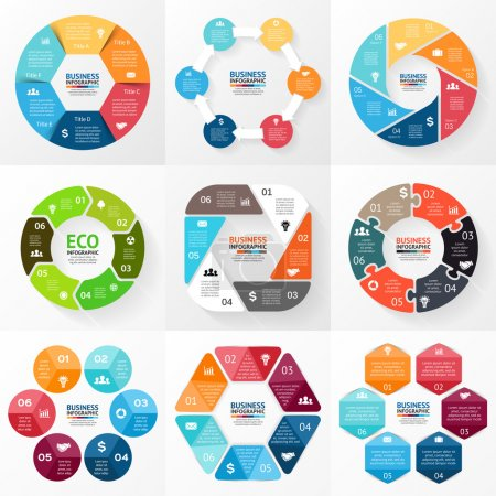 Circle infographic. Diagram, graph, presentation.