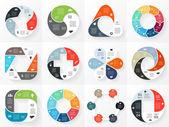 Circle arrows infographics set