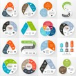 Vector circle arrows infographics set. Template fo...