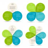 Linear circle eco infographic