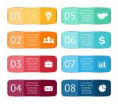 color stickers and labels for infographic