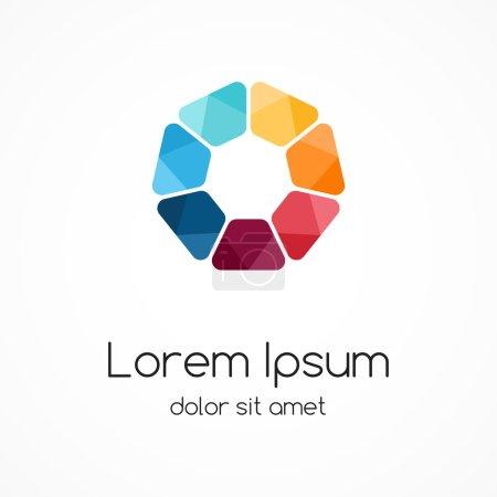 Modern  abstract circle creative sign
