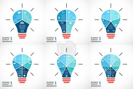 light bubles infographics set.