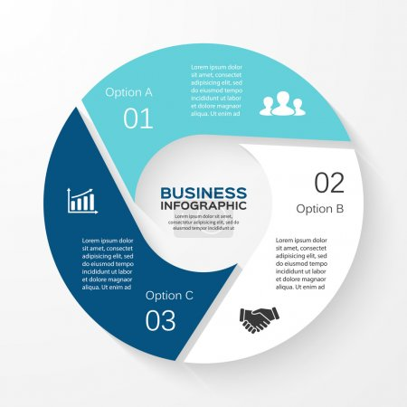 Illustration for Layout for your options or steps. Abstract template for background - Royalty Free Image