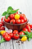 Skupina z čerstvých rajčat