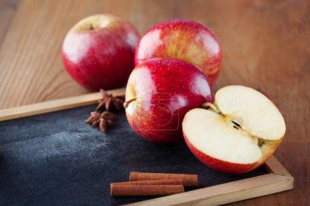 Juicy fresh red apples