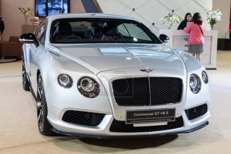 Photo for Nonthaburi,Thailand - March 26th, 2015: Bentley Continental GT V8 S on display,showed in Thailand the 36th Bangkok International Motor Show on 26 March 2015 - Royalty Free Image