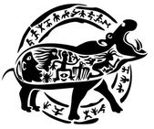 Hippo tattoo stamp