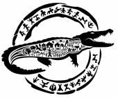 Crocodile tattoo stamp
