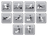 Set of sex positions Black and white vector illustration