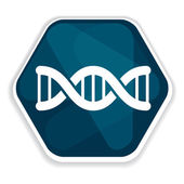 Blue DNA helix icon