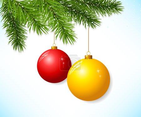 Branch with christmas ball