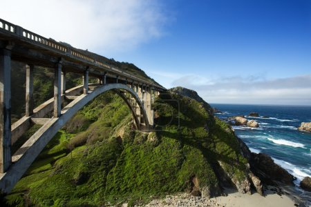 Bixby Bridge at Pacific Coast as part of Road Number 1, California