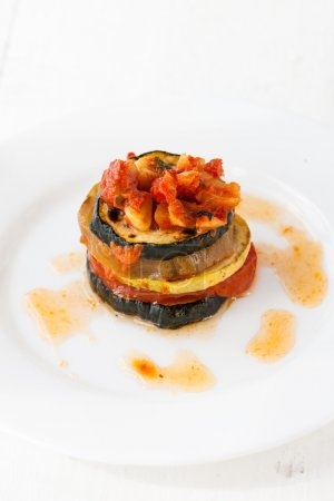 Plate with ratatouille