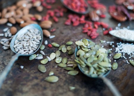 Photo for Different types of nuts - Royalty Free Image