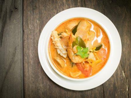 Thai food  Tom yum sea food